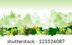 vector tropical rainforest... | Shutterstock .eps vector #123526087