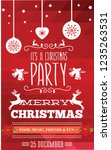 christmas party invitation with ... | Shutterstock .eps vector #1235263531