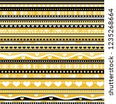black and golden background.... | Shutterstock .eps vector #1235268664