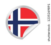 vector norway circle folded | Shutterstock .eps vector #1235269891