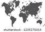 world map vector  isolated on... | Shutterstock .eps vector #1235270314
