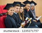 group of diverse international... | Shutterstock . vector #1235271757