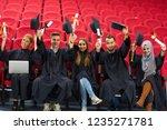 group of diverse international... | Shutterstock . vector #1235271781