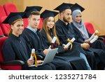 group of diverse international... | Shutterstock . vector #1235271784