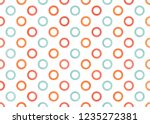 watercolor salmon red  blue and ... | Shutterstock . vector #1235272381