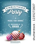 christmas party poster  flyer ... | Shutterstock .eps vector #1235272837