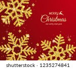 christmas background with... | Shutterstock .eps vector #1235274841