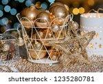 closeup christmas balls for... | Shutterstock . vector #1235280781