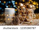closeup christmas balls for... | Shutterstock . vector #1235280787