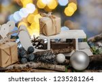 composition with handmade... | Shutterstock . vector #1235281264