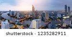 panorama aerial view bangkok... | Shutterstock . vector #1235282911