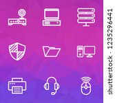 hardware icons line style set... | Shutterstock .eps vector #1235296441