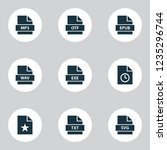 document icons set with page ... | Shutterstock .eps vector #1235296744