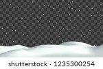 realistic snow hills landscape. ... | Shutterstock .eps vector #1235300254