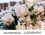wedding table serivce. candles... | Shutterstock . vector #1235304397