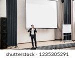 speaker at business conferences ... | Shutterstock . vector #1235305291