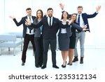 portrait of happy business team ... | Shutterstock . vector #1235312134
