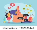 crm customer relationship... | Shutterstock .eps vector #1235323441