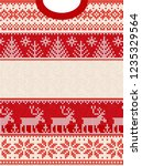 ugly sweater merry christmas... | Shutterstock .eps vector #1235329564