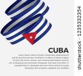cuba flag for decorative.... | Shutterstock .eps vector #1235332354