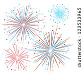 vector firework | Shutterstock .eps vector #123533965