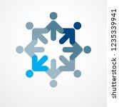 teamwork and friendship concept ... | Shutterstock .eps vector #1235339941