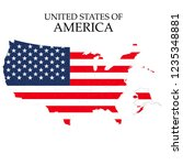 states of america territory on... | Shutterstock .eps vector #1235348881