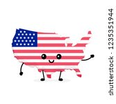 cute funny smiling happy usa... | Shutterstock .eps vector #1235351944