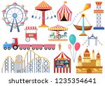 amusement park vector... | Shutterstock .eps vector #1235354641
