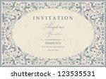 wedding invitation cards... | Shutterstock .eps vector #123535531