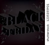 black friday sale promo poster. ... | Shutterstock .eps vector #1235355931