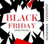 black friday sale promo poster. ... | Shutterstock .eps vector #1235355937