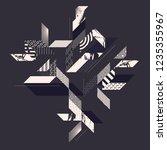abstract modern geometric... | Shutterstock .eps vector #1235355967