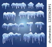 snow caps  snowballs and... | Shutterstock .eps vector #1235362891