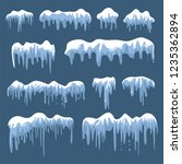 snow caps  snowballs and... | Shutterstock .eps vector #1235362894