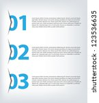 one two three   vector progress ... | Shutterstock .eps vector #123536635