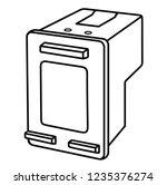 printer ink cartridge. vector...   Shutterstock .eps vector #1235376274