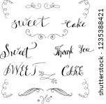 hand drawn vignettes  words  ... | Shutterstock .eps vector #1235388421