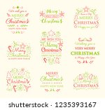 collection of christmas... | Shutterstock .eps vector #1235393167