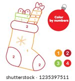 christmas coloring page.... | Shutterstock .eps vector #1235397511