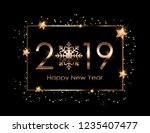 2019 new year background.... | Shutterstock .eps vector #1235407477