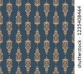seamless decorative vector... | Shutterstock .eps vector #1235408464