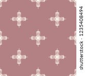 seamless decorative vector... | Shutterstock .eps vector #1235408494
