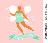 magic flying fairy and text... | Shutterstock .eps vector #1235410567