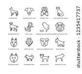 set of 16 dogs line icons such... | Shutterstock .eps vector #1235417737