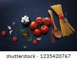 ingredient for spaghetti...   Shutterstock . vector #1235420767