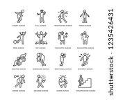 set of 16 feelings linear icons ... | Shutterstock .eps vector #1235426431