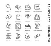 set of 16 health and medical...   Shutterstock .eps vector #1235426491