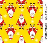 christmas seamless pattern with ... | Shutterstock . vector #1235453674