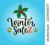 winter sale hand written... | Shutterstock . vector #1235453677